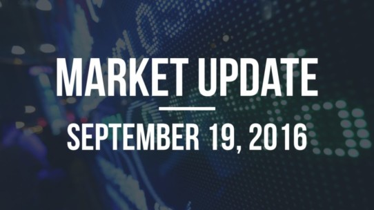 Market Update – September 19, 2016